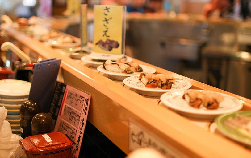 回転寿司チェーン店での使用イメージ